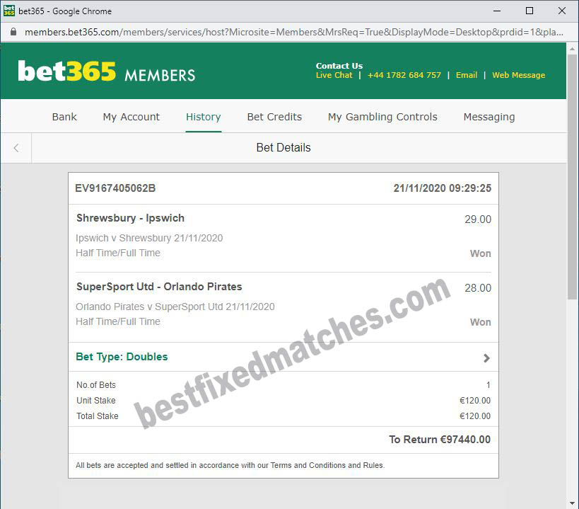BEST FIXED MATCHES HT FT 100%
