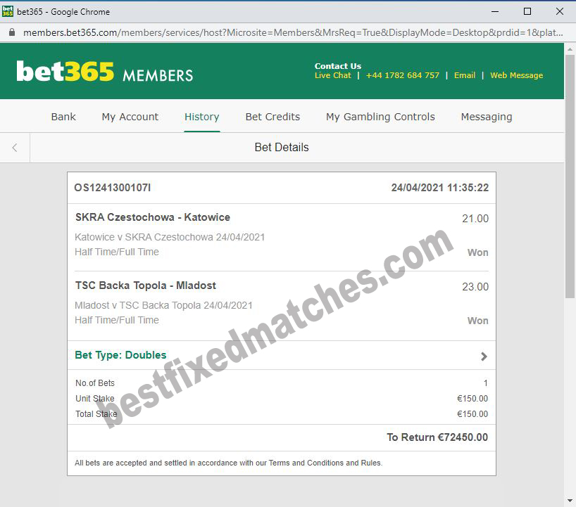 best fixed matches ht ft tips